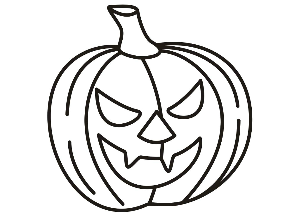 printable scary pumpkin coloring pages - photo#35