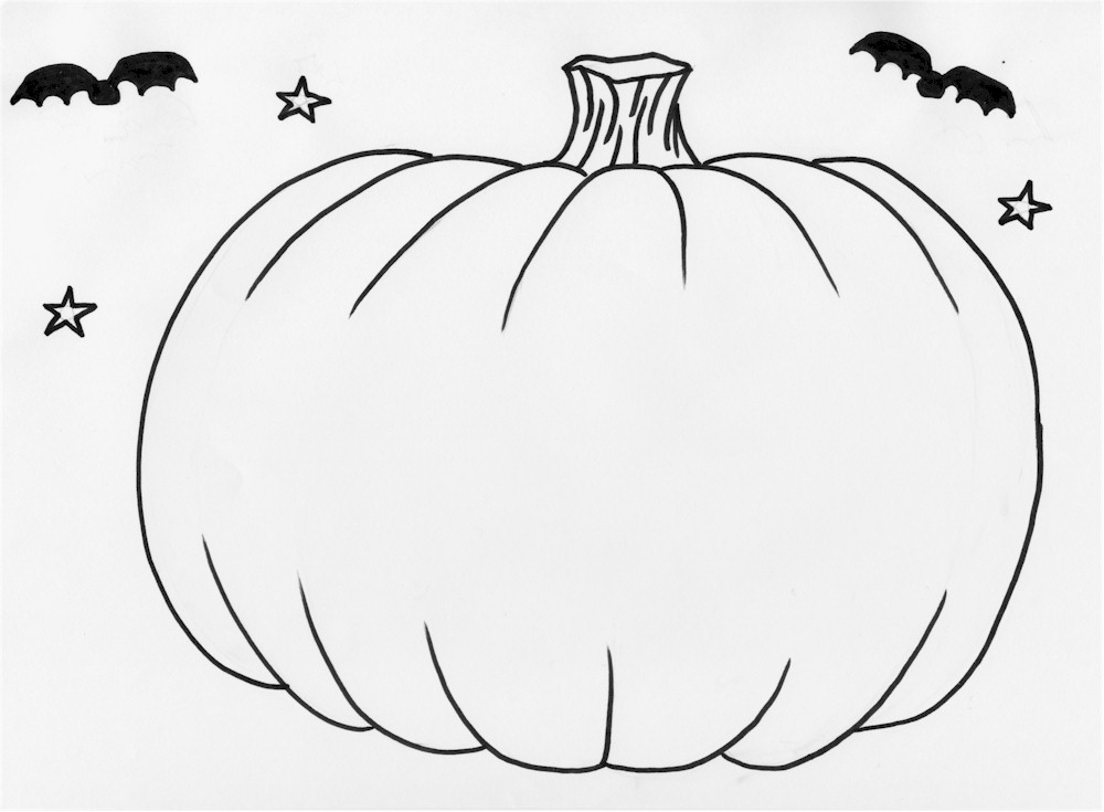 halloween pumpkins coloring pages - photo #3