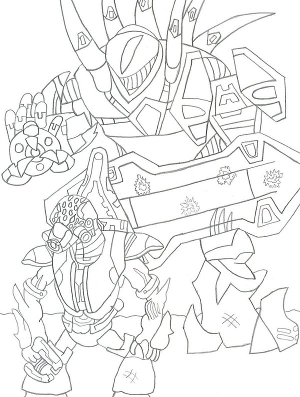 halo color pages. Halo 3 Coloring Pages Free Printable For Kids