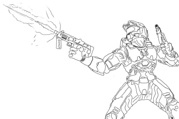 x box halo coloring pages - photo #36