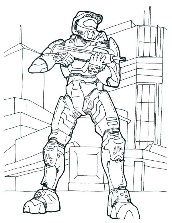 halo color pages. Halo Coloring Pages Picture Free Printable For Kids