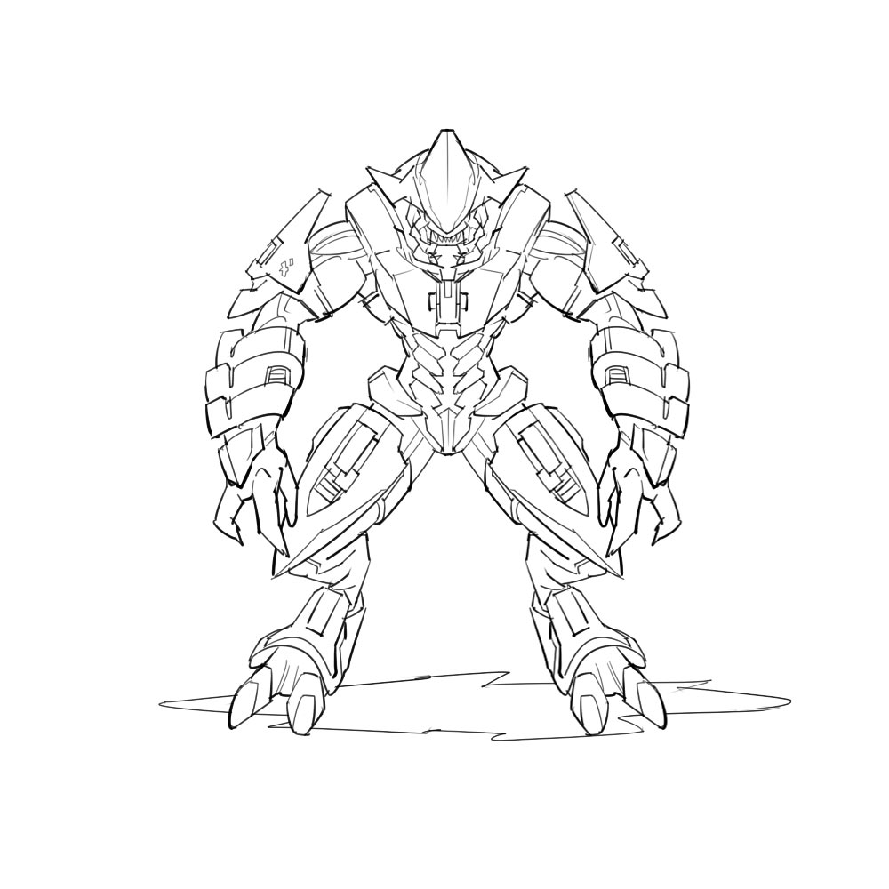 x box halo coloring pages - photo #41