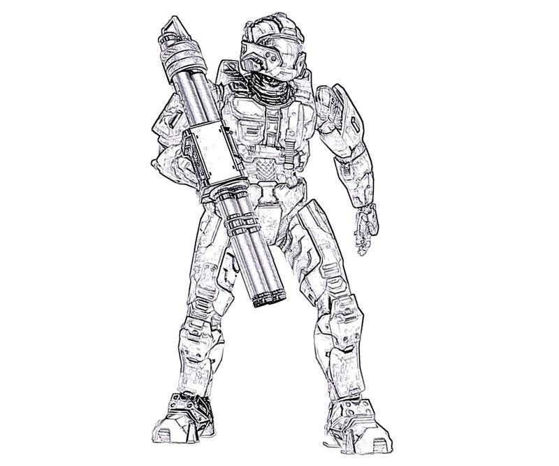 halo printable coloring pages - Halo Coloring Pages