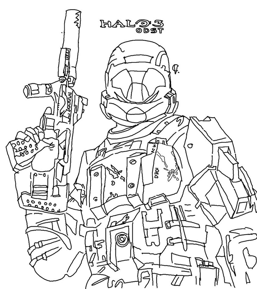 halo mega block coloring pages - photo#33