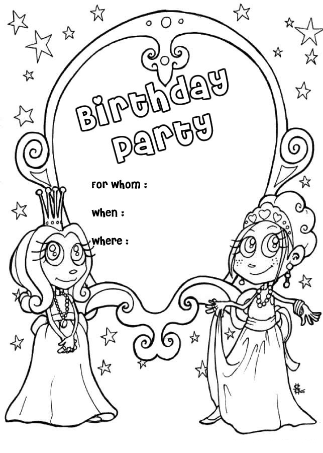 Birthday Coloring Pages For Girls Coloring Page – Birthday Coloring Cards