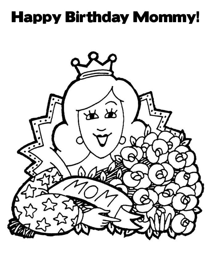 happy birthday mommy coloring pages free printable happy birthday coloring pages for kids