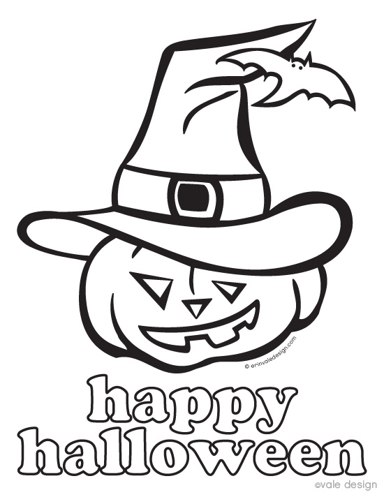 Printable Halloween Decorations To Color Happy
