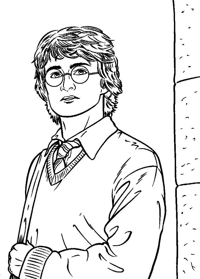 harry potter coloring pages images - Harry Potter Coloring Pages For Kids