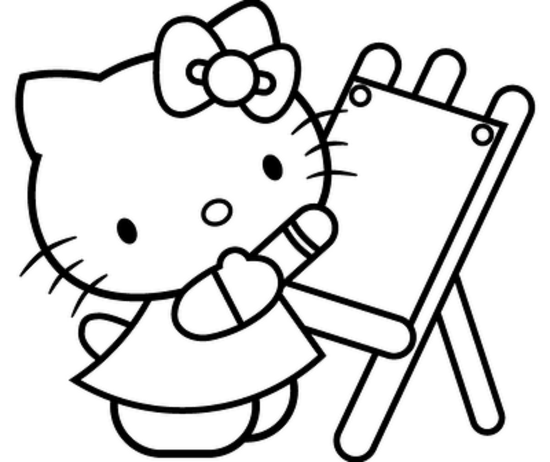 hello kitty coloring pages for kids printable