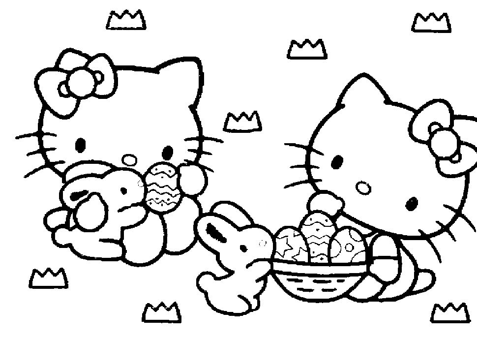 hello kitty coloring pages online for free - Color Pages Online