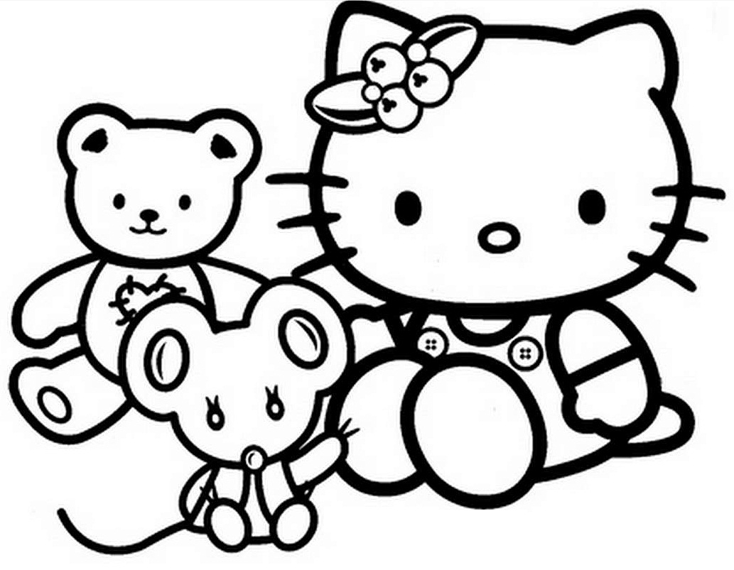 hello kitty coloring pages to color - Kitty Printable Color Pages