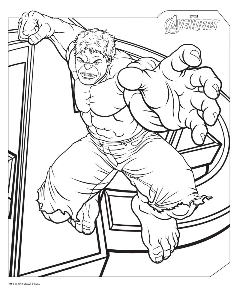 hulk coloring pages - photo #10