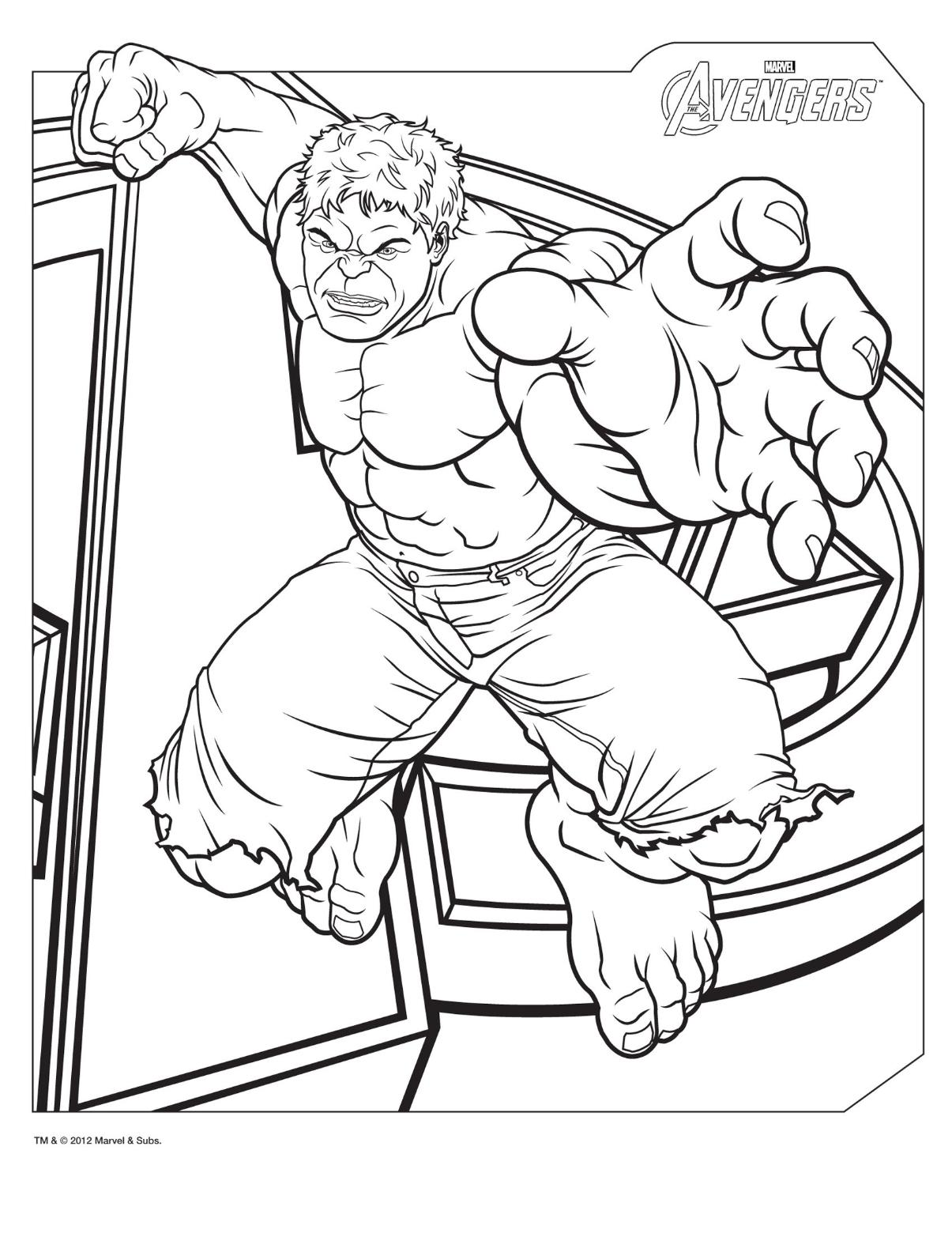 coloring pages incredible hulk - photo#2