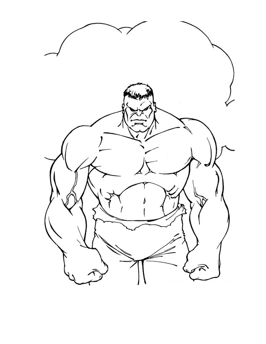 Incredible Hulk Coloring Pages For Kids