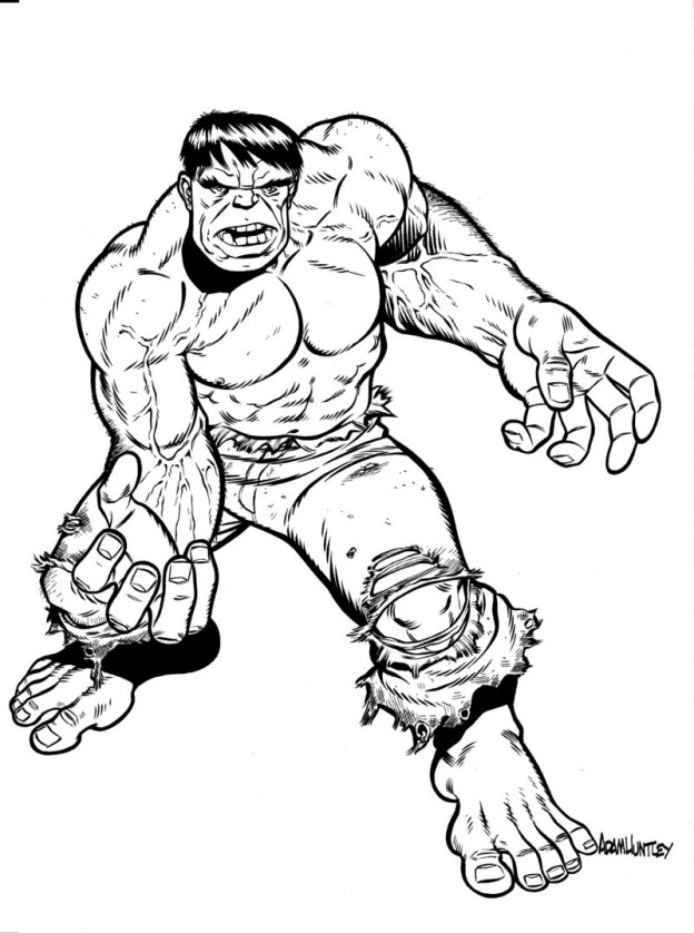 printable hulk coloring book pages | Free Printable Hulk Coloring Pages For Kids