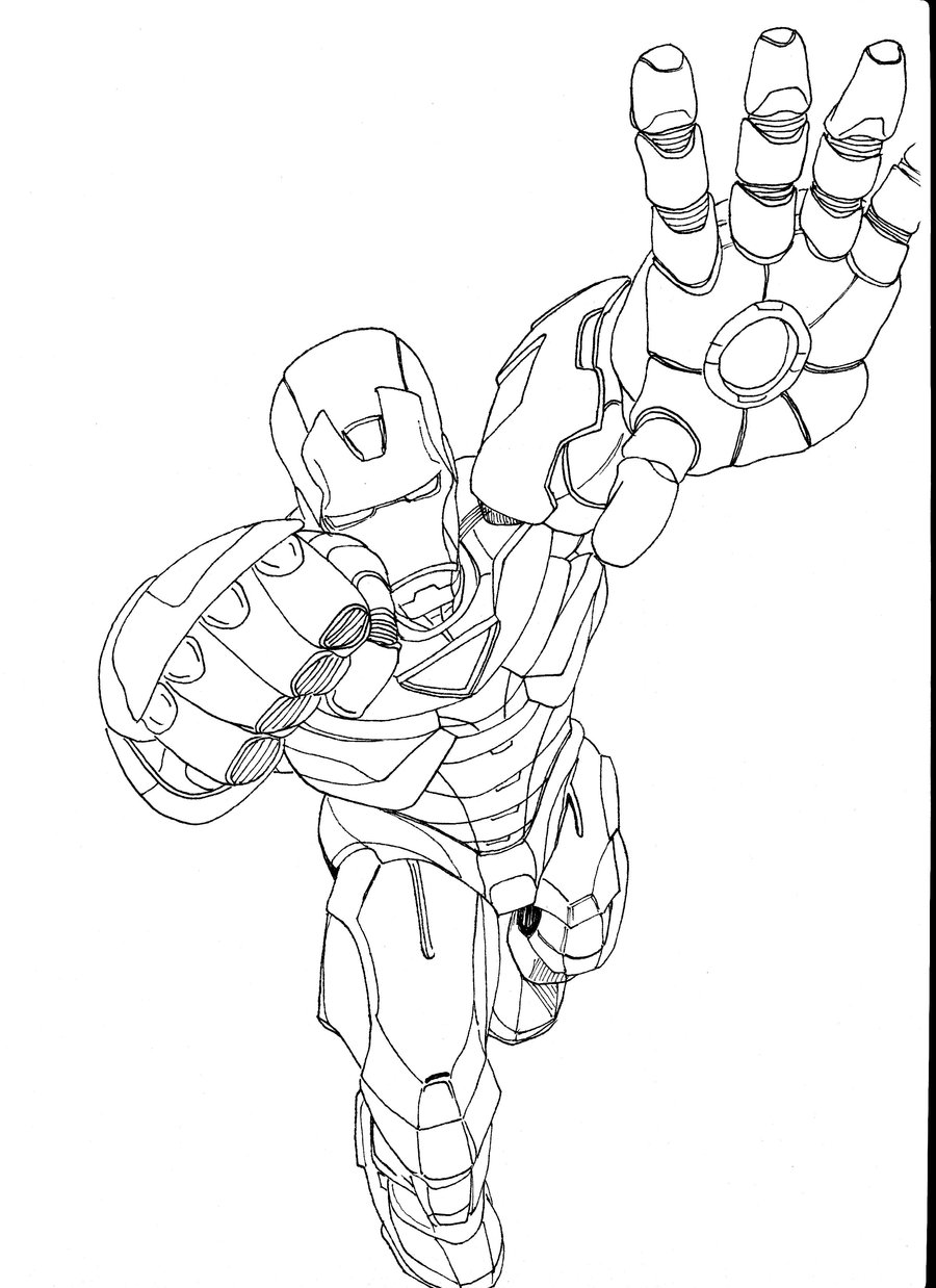 Free coloring pages of iron man 3