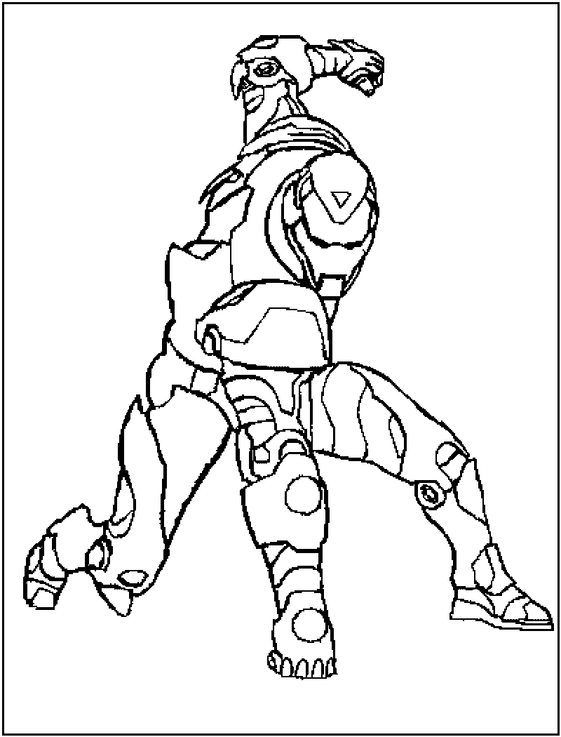 Iron man online coloring games - Iron Man Coloring Pages For Kids