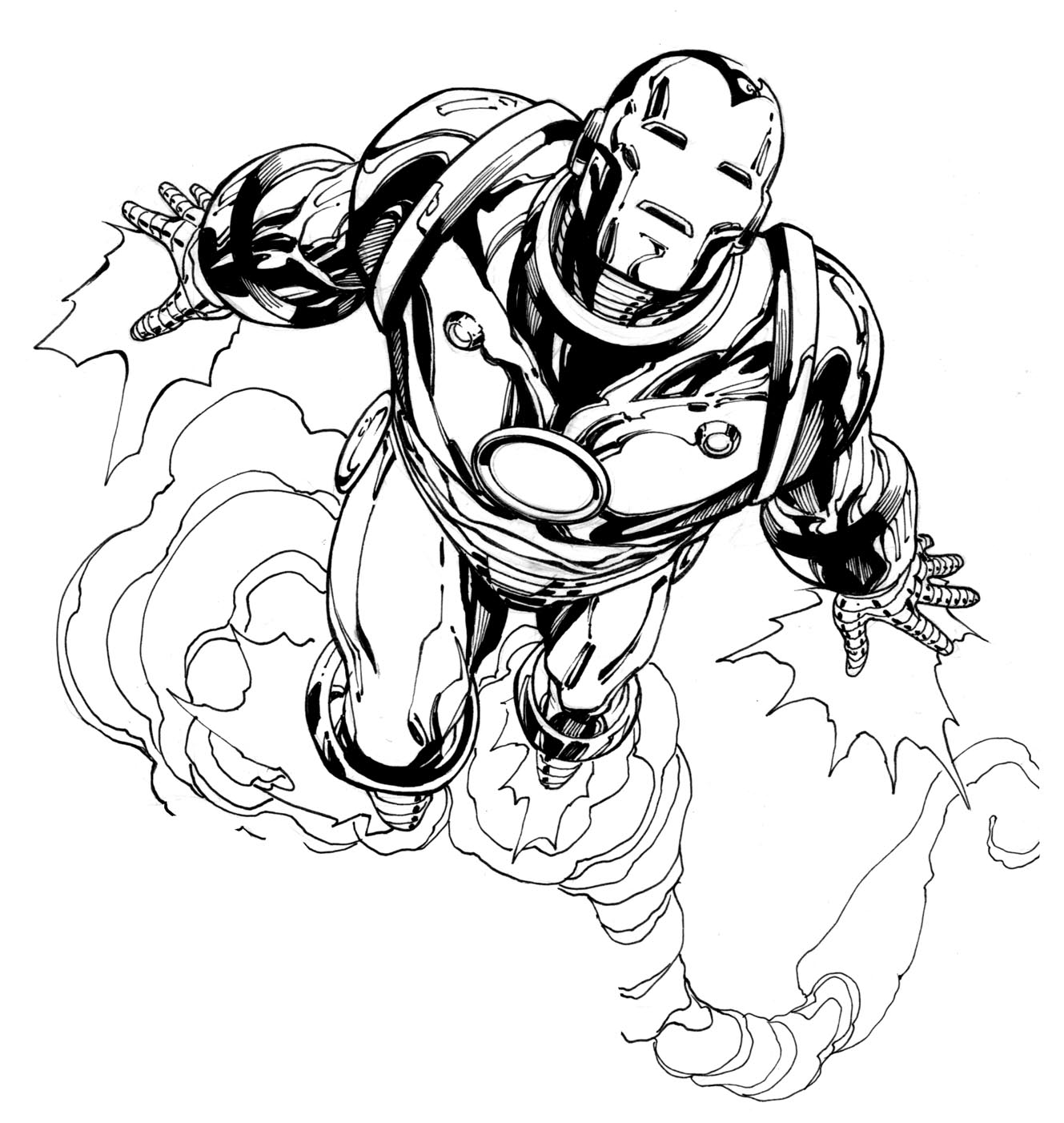 Free Iron Man And Spider Man Coloring Pages