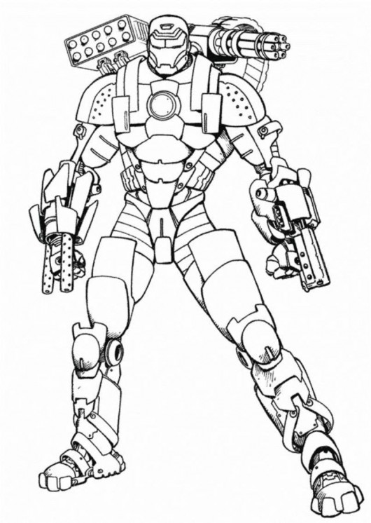 Free Printable Iron Man Coloring Pages For Kids - Baby Face