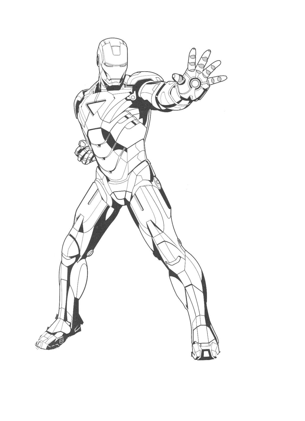 Iron Man Coloring Book Games : Free printable iron man coloring pages for kids best