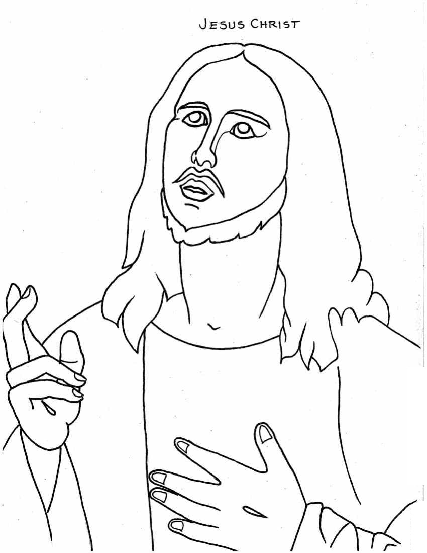 Coloring Pages Of Jesus Fair Free Printable Jesus Coloring Pages For Kids Inspiration