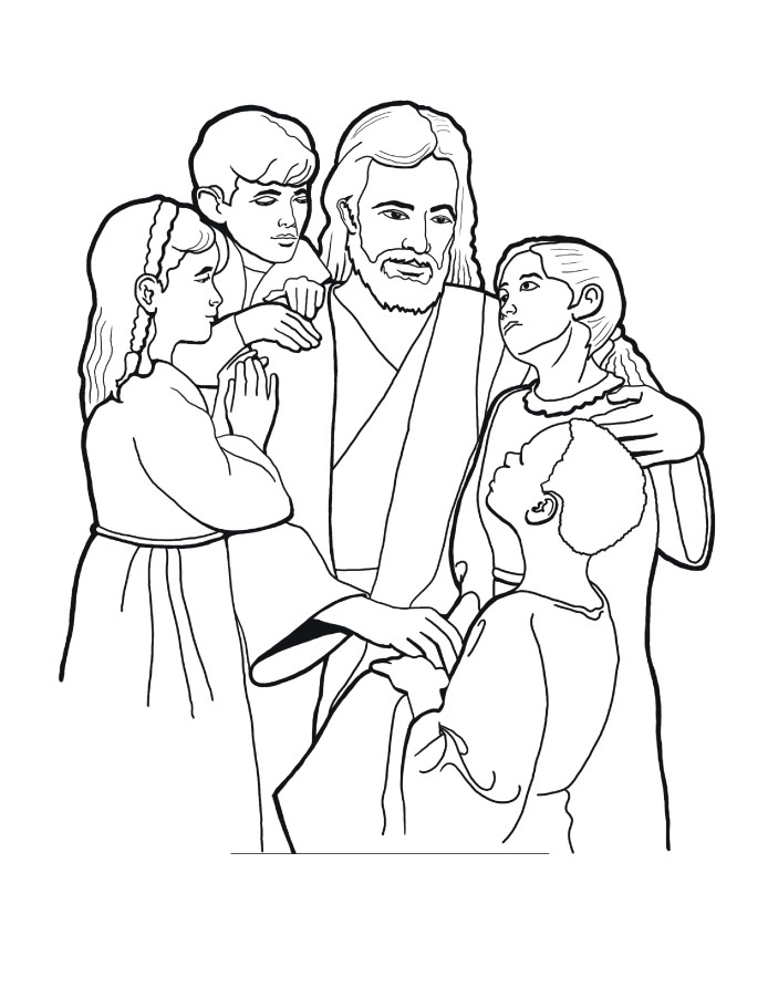 Jesus Loves Kids Coloring Page