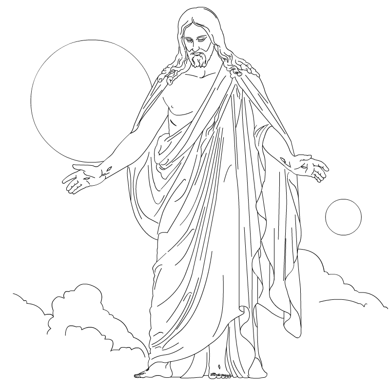 Jesus Walks On Water Coloring Page
