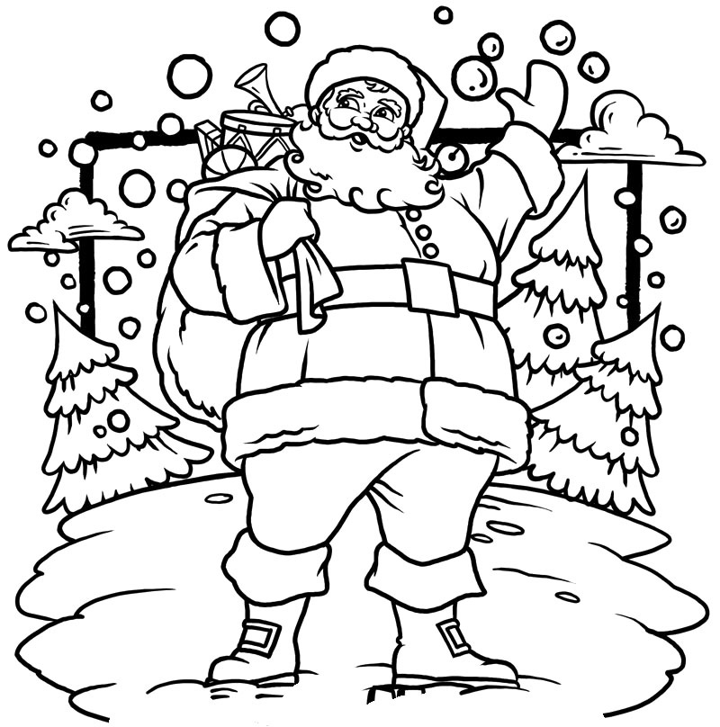 jolly st nick santa coloring pages - Santa Claus Coloring Pages