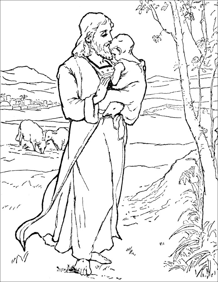 jesus bible story coloring pages - photo#8
