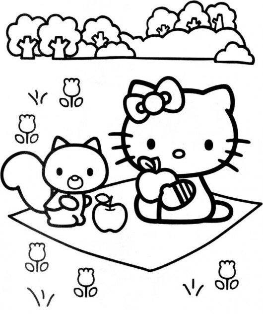 free printable hello kitty coloring pages for kids - Coloring Picture For Kid