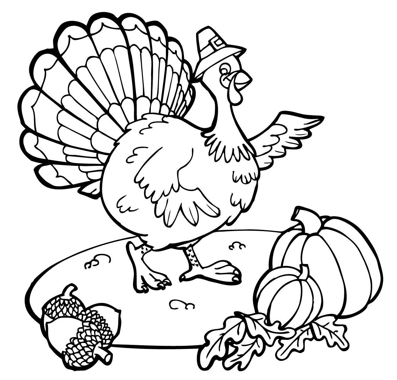 Coloring Pages Turkeys Preschool : Free printable thanksgiving coloring pages for kids