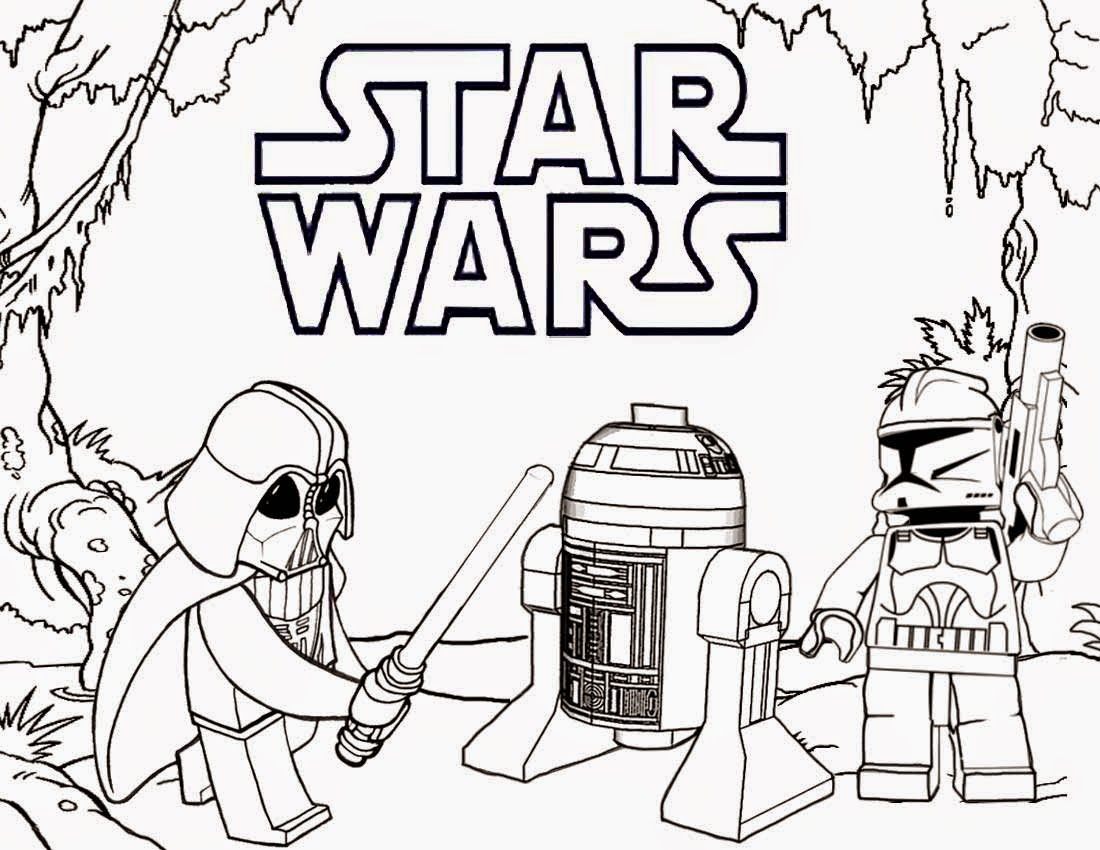Lego Star Wars Coloring Pages Darth Vader And R