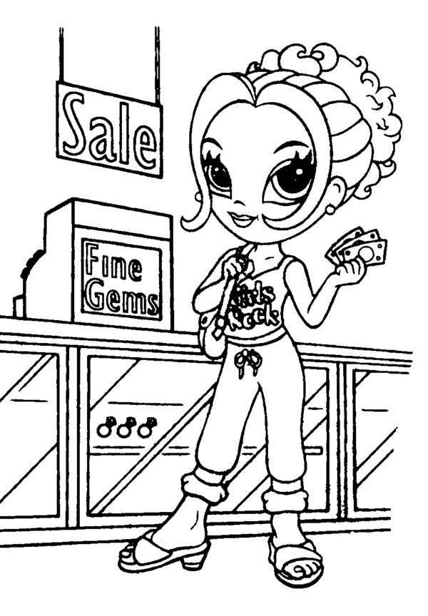 Lisa Frank Hippie Coloring Pages