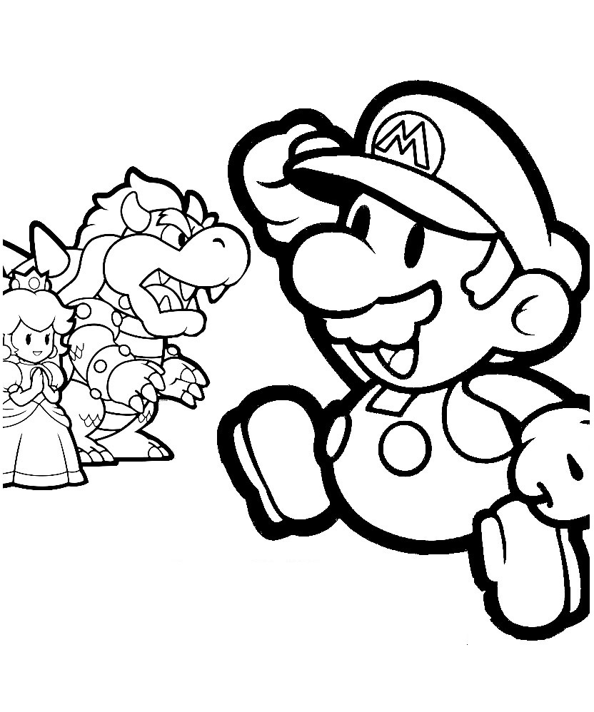 3d coloring pages - Mario And Sonic Coloring Pages