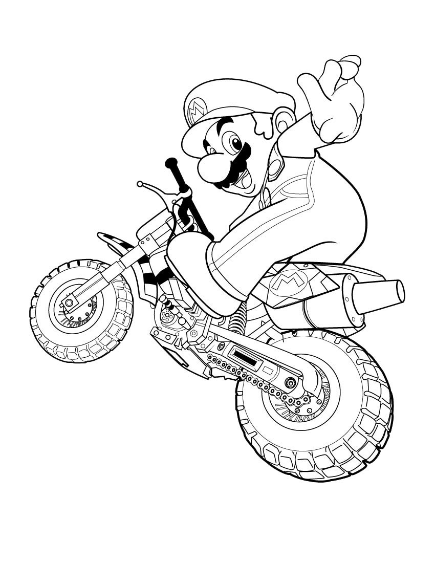 Mario bros coloring pages - Mario Bros Coloring Pages To Print