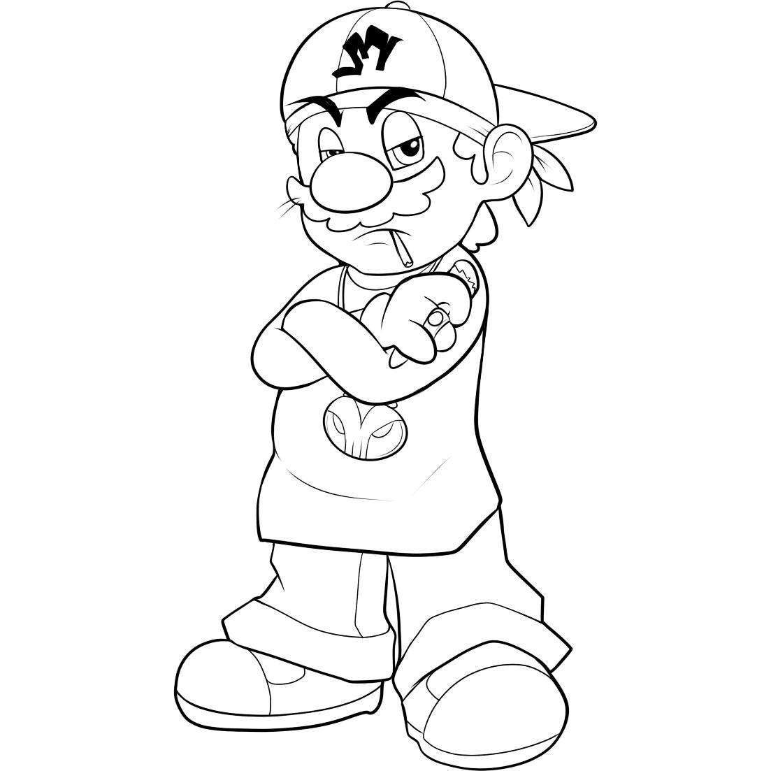 Coloring pages for kids mario bros - Mario Brother Coloring Pages