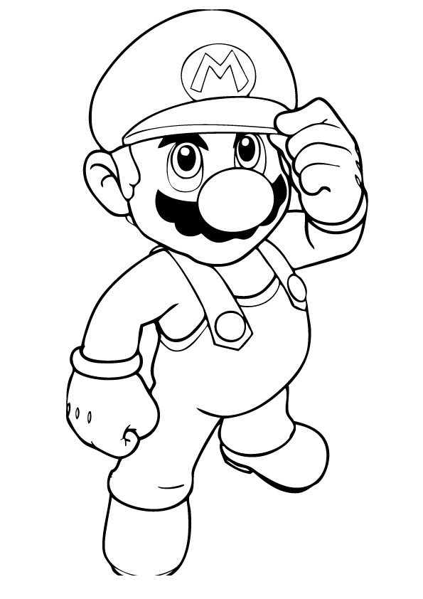 online mario coloring pages - photo#2