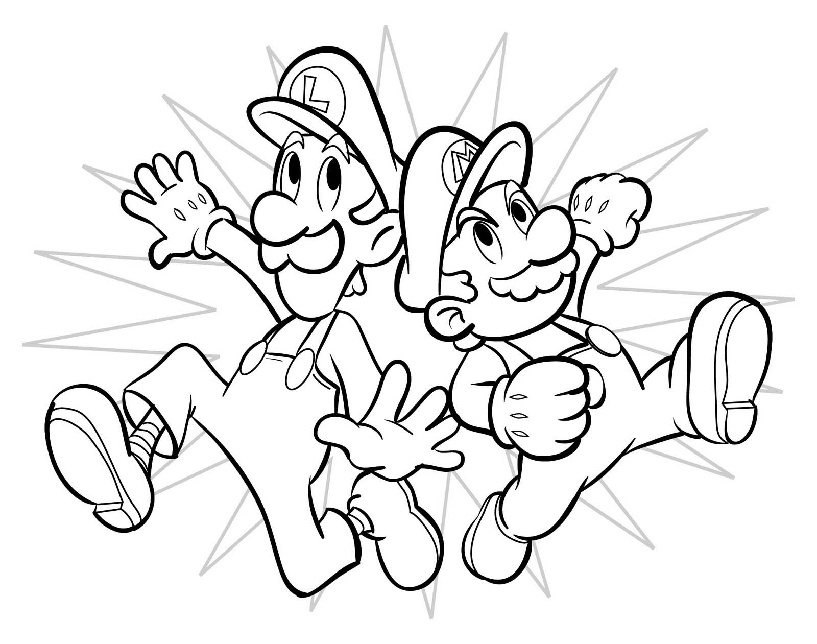 Free printable mario coloring pages for kids for Boys color pages