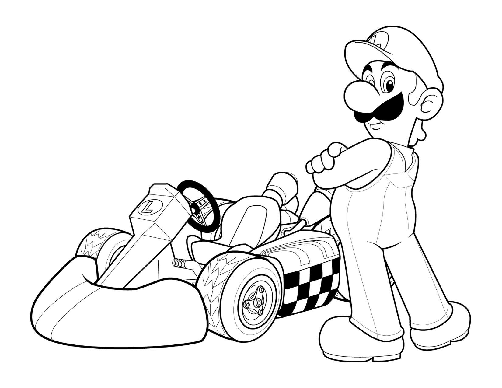 luigi coloring pages printable - photo#9