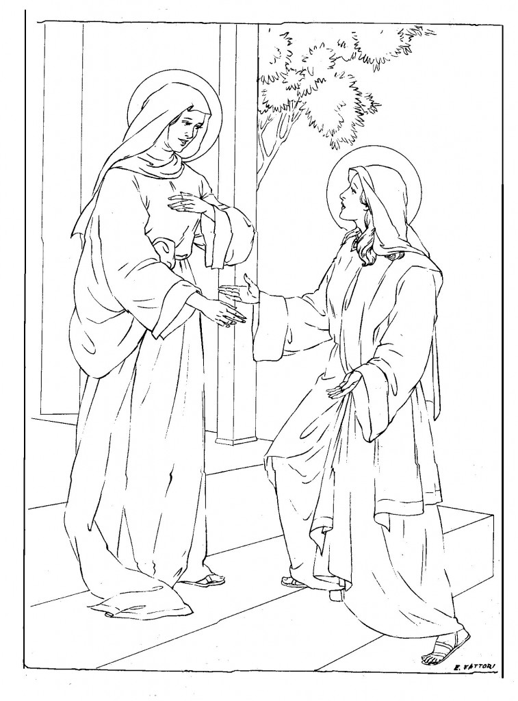 Mary Mother of Jesus Coloring Pages