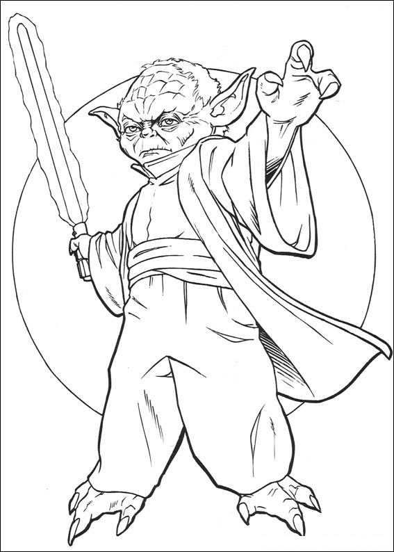 Master Yoda - Star Wars Coloring Pages