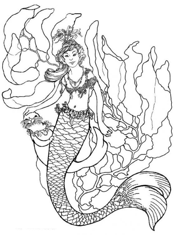 free online coloring pages mermaids - photo#6