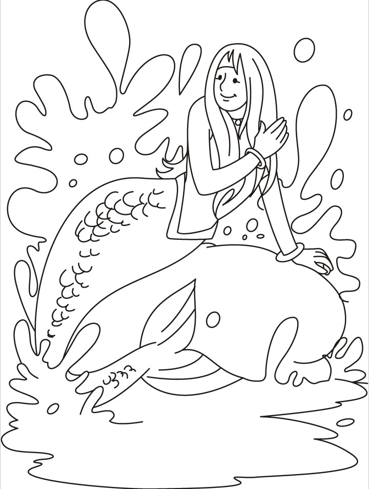 Mermaids Coloring Pages For Kids