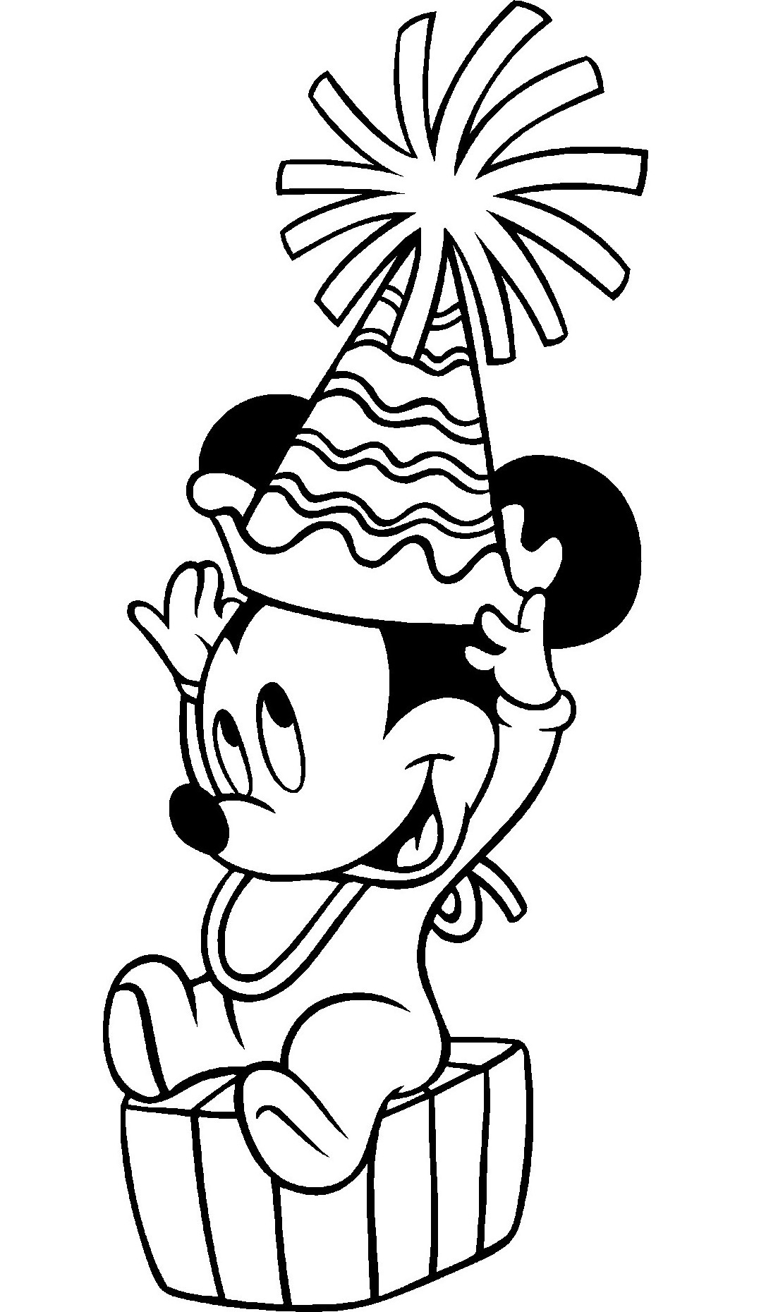 Coloring Pages Mickey Mouse Birthday : Free printable mickey mouse coloring pages for kids