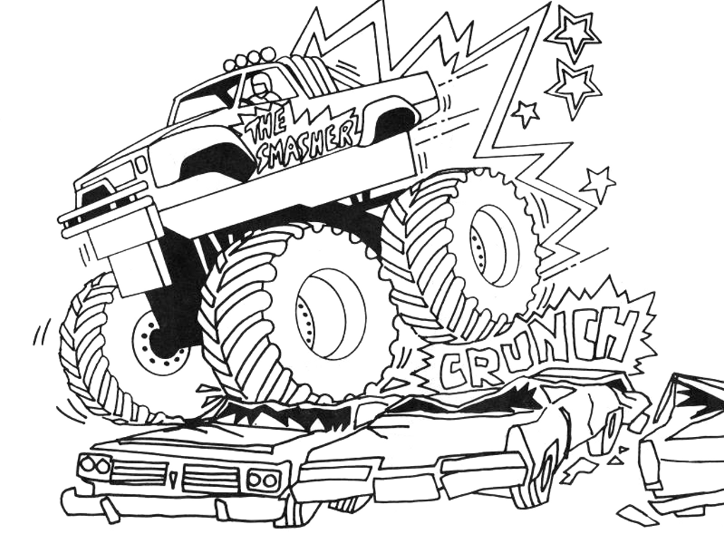 monster truck coloring pages photos - Monster Truck Coloring Pages Easy