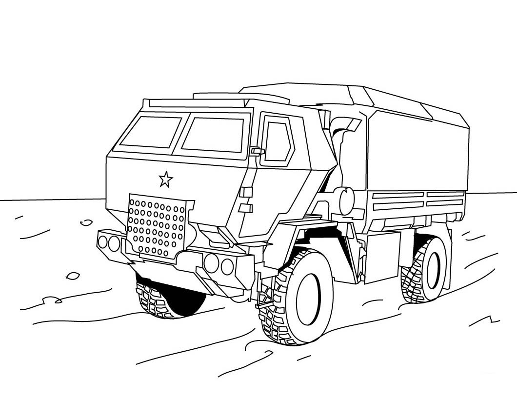 Coloring pages 4 wheeler - Monster Truck Coloring Pages Pictures