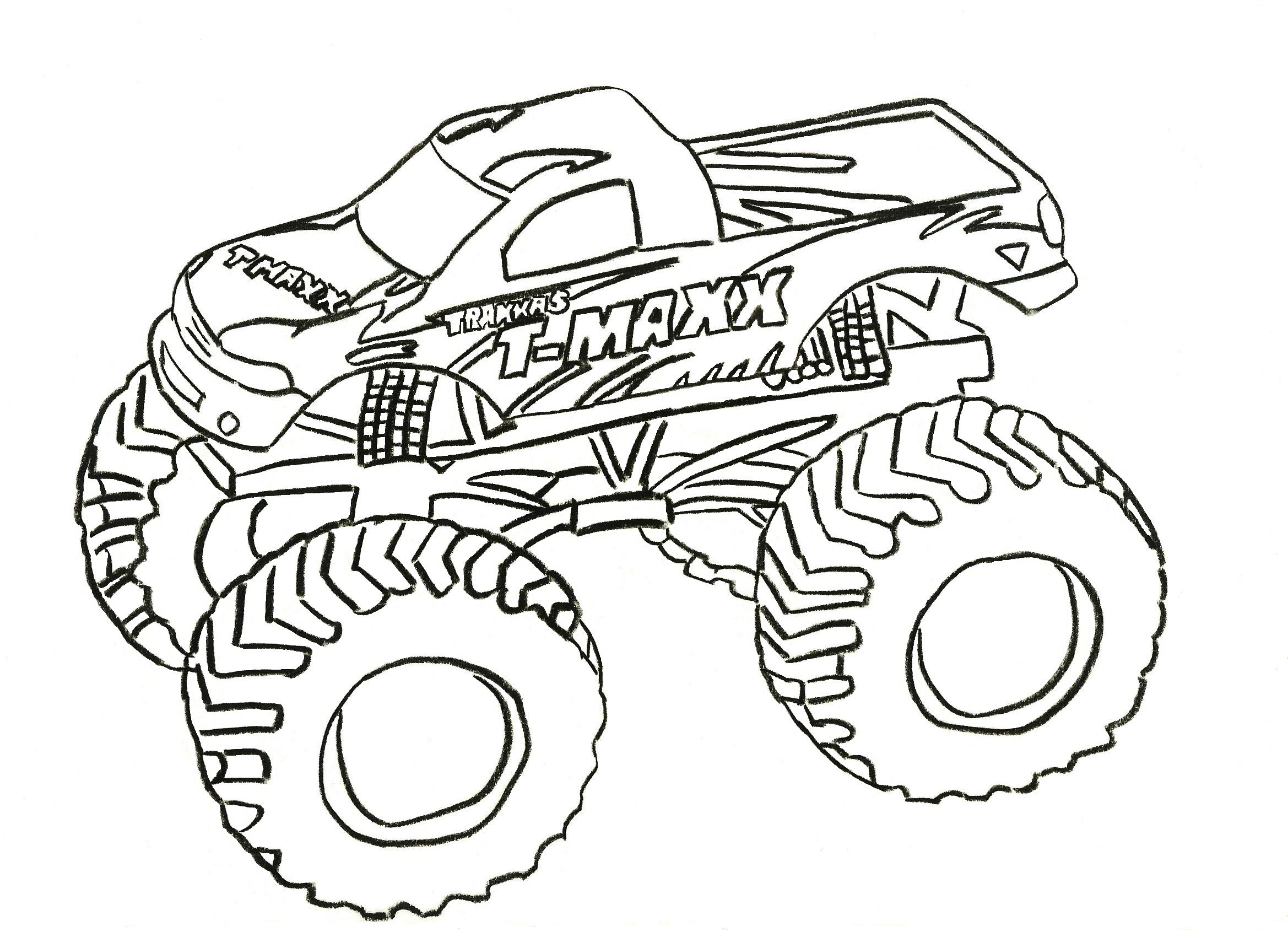 monster truck coloring pages - Monster Truck Coloring Pages Easy