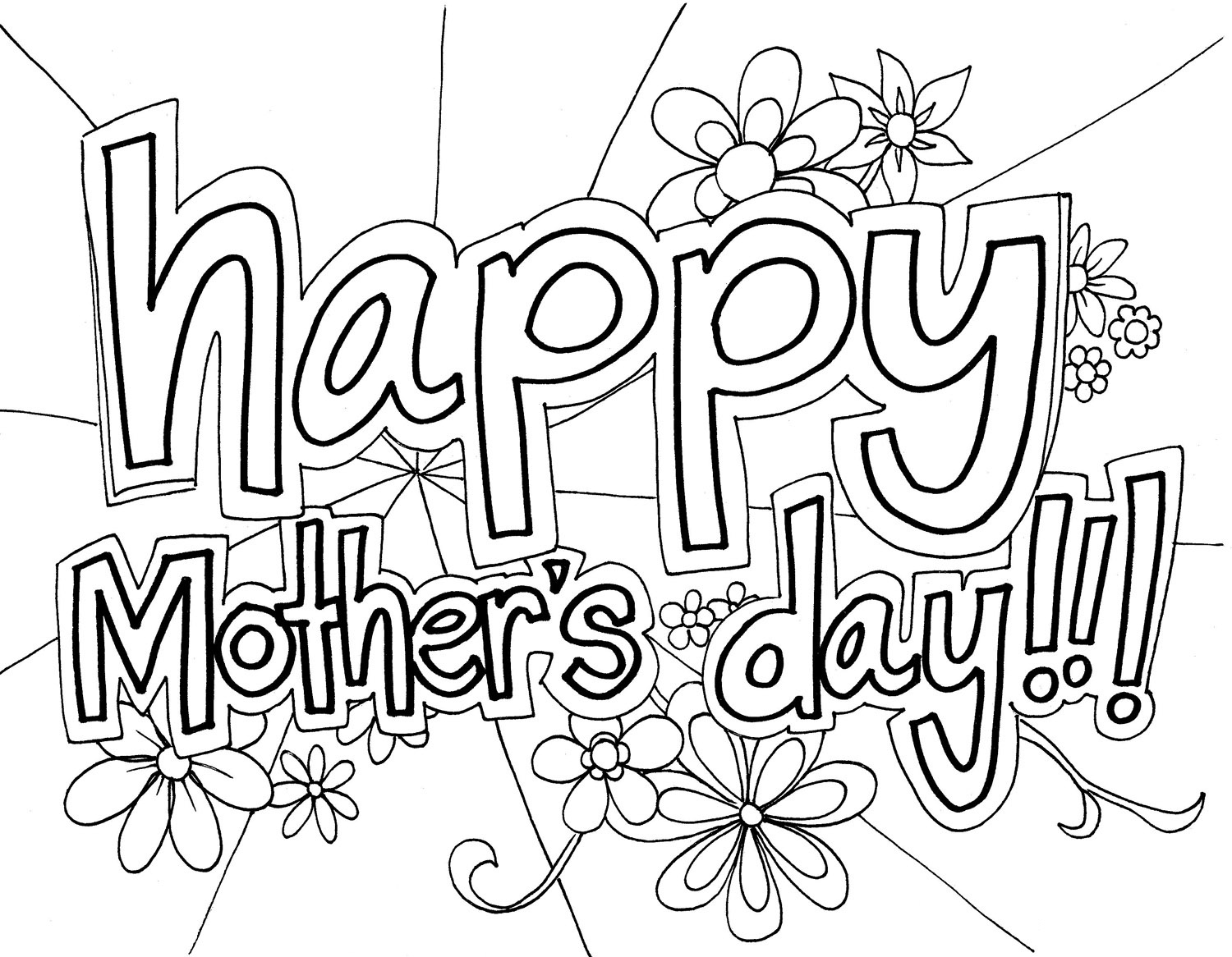 Free printable mothers day coloring pages for kids for Card coloring pages