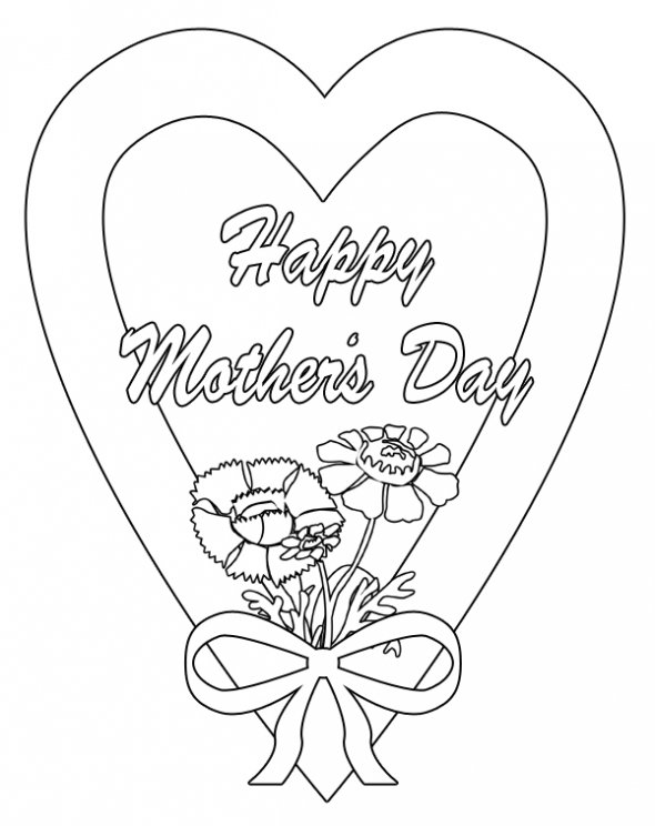 mother coloring pages for kids - photo#32