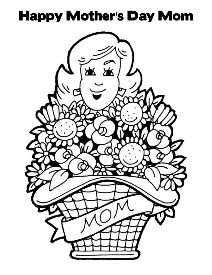coloring pages mom and kids - photo#42